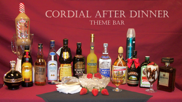 theme bar cordial after dinner